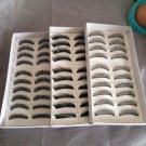 30 Pairs Natural Black Long False Eyelashes Makeup Eye Lash (3 Boxes)