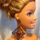 NEW  Elegant Classic  Brown RHINESTONE Drop/Dangle  Big Earring Post back
