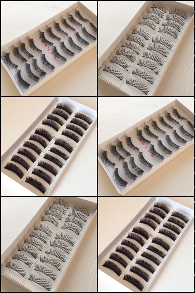 HOT New 60 Pair Natural OR Thick Fake False Eyelashes Eye Lash Fashion.