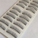 High Quality Handmade 10 Pairs  Natural Black Charming Soft False Eyelashes#00