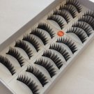 10 Pairs Natural Black Long Handmade False Eyelashes