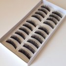 Lot of 10 boxes (100 PAIRS)  BLACK THICK Long Soft FALSE EYELASHES #020