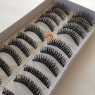 Lot of 5 boxes (50 PAIRS)  BLACK THICK Long Soft FALSE EYELASHES #090