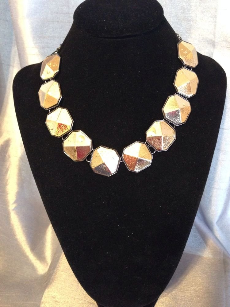 Gold Tone Brass  Collar Necklace
