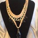 Elegant  Stylish knitting bib Necklace
