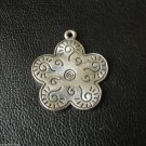 Vtg Kid's Children's Jewelry Pendant Talisman Amulet Mascot Plated Copper Flower