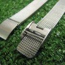 Vintage Women's Wristwatch Band Bracelet Mesh Stamped 100% Stainless Steel