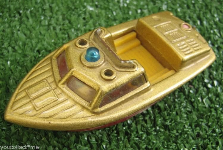 Police Torpedo Launch Patrol Boat Vintage Toy Model 1:70 Coast Guard Speedboat