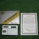 Vintage Calculator Advertising WOLF INTERSNACK Solar Power Plastic case Warranty