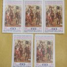 Post Stamp Collection Lot Set 5 pc Bulgarian Painter Art Work Vtg Free SHIPPING