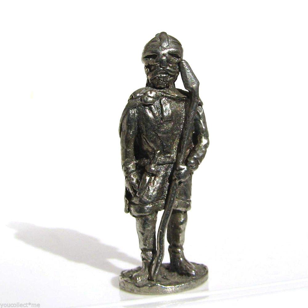 Viking #2 Kinder Surprise Size Metal Soldier Figurine Vintage Toy 4 cm