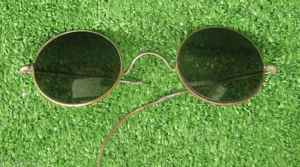 Vintage Wire Frame Eyeglasses Glasses Round Shaped for Repair