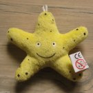 NEW PLUSH STAR FISH CUTE OCEAN LIFE 3 INCHES KEY CHAIN LUCKY CHARM W/ LOOP