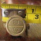 "vintage brass seal military staff secure doors vehicle load storage rooms ""E 30"""
