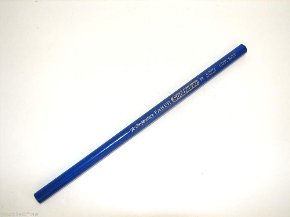 Johann Faber Goldfaber 4080 COP. ROT Vintage Red Pencil Unused NOS Crack