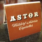 Vintage Astor Waldorf Astoria Cigarettes Advertising Safety Matches Paper Photo