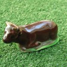 Vintage Small Porcelain Resting Animal Figurine Glazed Handmade VALLAURIS signed