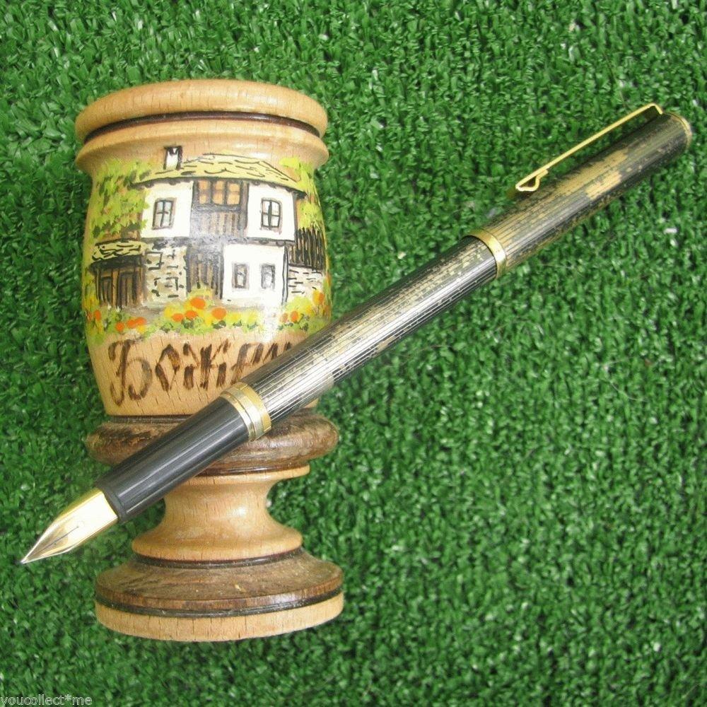 Used Ballpoint & Fountain Combo Pen Metal Barrel Cartridge Filler Gold Clip Trim