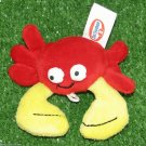 Red Crab Small Plush Toy Loop Key Chain Ring Cell Phone Lucky Charm
