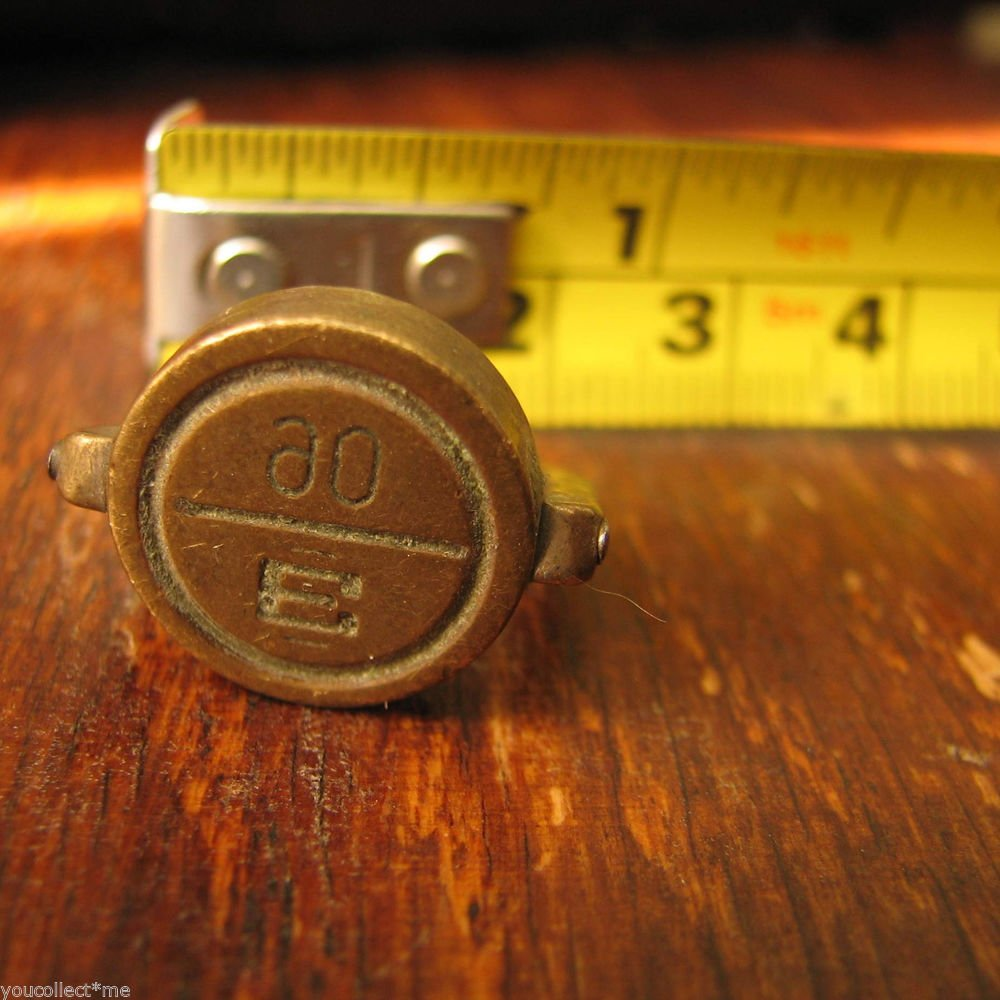 """vintage brass seal military staff secure doors vehicle load storage rooms """"E 90"""""""