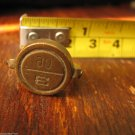 "vintage brass seal military staff secure doors vehicle load storage rooms ""E 90"""