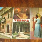 VERONA ARHITECTURE PLACES VINTAGE POSTCARD LOVERS KISS PAINTING MINT ITALY PRINT