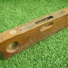 Vintage Carpentry Woodworking Hardware Tool Wooden Level Rule Two Tube Ballons