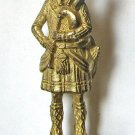 Scot 3 Brass Kinder Surprise Metal Soldier Figurine Vintage Toy 4cm High