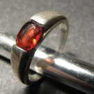 Vintage Sterling Silver Ring Ruby Red Color Stone Hallmarked 925 Patina