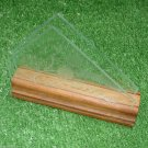 Vintage Wooden Base Napkin Holder Flower Motif Stained Glass Early 1900s
