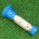 SMALL VINTAGE FLASHLIGHT BLUE CHROMED DDR GERMANY 1970S VGC 2 D SIZE BATTERIES