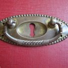 Vintage Cabinet Cupboard Hardware Drawer Pull Brass Tin Ornated