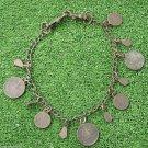 Vintage Dog Collar Necklace Pendant Copper / Brass Alloy