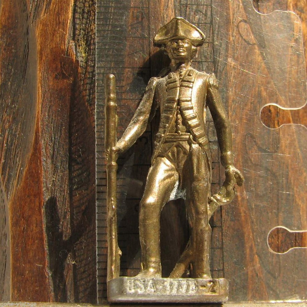 USA 1775-2 Kinder Surprise Metal Soldier Figurine Vintage Toy 4 cm US Civil War