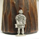 Knight Axe Kinder Surprise Metal Soldier Figurine Vintage Toy 4 cm Brass Finish