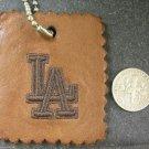 Genuine Leather Vintage Key-Chain Key Ring Holder LA Signed