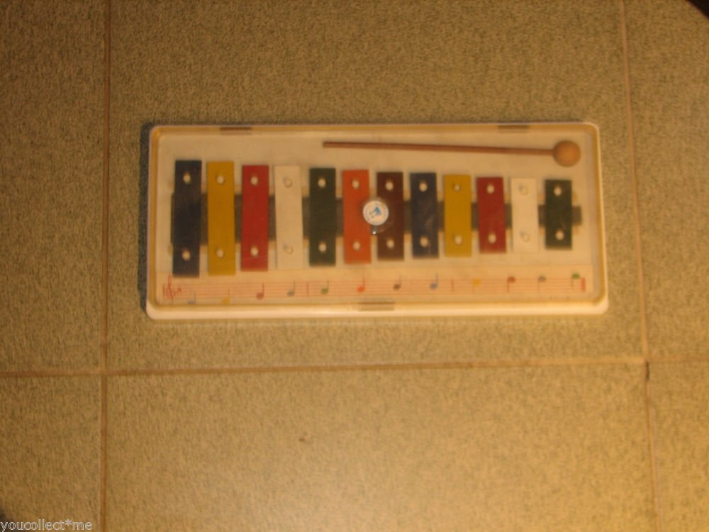 Vintage Percussion Xylophone Musical Kids Toy Boxed Bulgaria 1970s