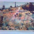 vintage post card Chemin montant dans les hautes herbes August Renoir Painting