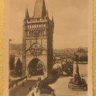 Praha Vintage Photograph Tourist Souvenir B&W Photo Bruckenturm Bridge Prague #5
