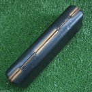 VINTAGE FOUNTAIN PEN BALLPOINT PEN PENCIL CASE BOX BLACK BRASS TRIM WHITE LINING
