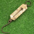 Krups Germany Vintage Hanging Scale Balance Hook Brass Weight Measure 1940's