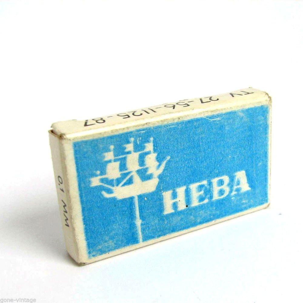 NEVA RUSSIAN USSR VINTAGE SAFETY SHAVE RAZOR SPARE BLADES BOX NOS