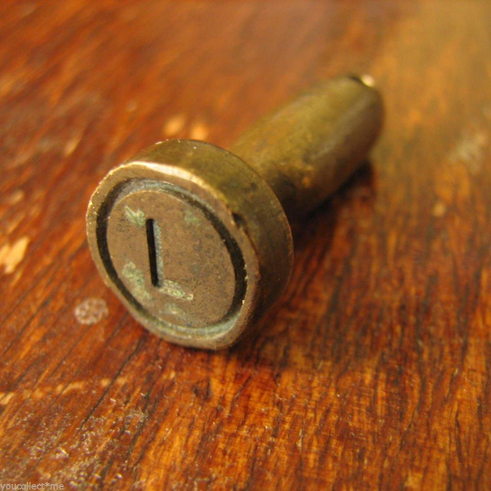 vintage brass seal military officer secure doors vehicle load storage rooms docs