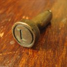 vintage brass seal military officer secure doors vehicle load storage rooms docs