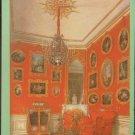 Crimson Room Sobstvennaja Dacha Palace E.Gau Watercolor Vintage Postcard USSR