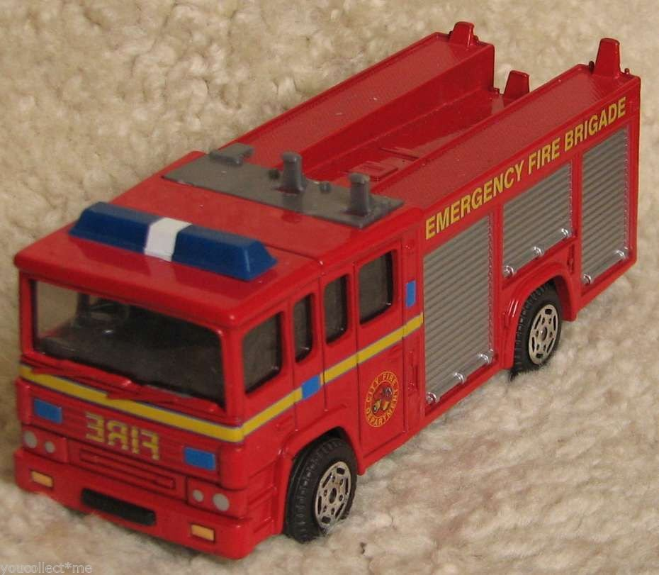 Vintage Corgy Fire Engine Emergency Fire Brigade Red Truck no Ladder
