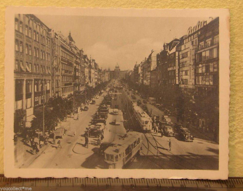 Praha Vintage Photograph Tourist Souvenir B&W Photo Wenzelsplatz Prague #5