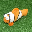Clown Fish Small Plush Toy Loop Key Chain Ring Cell Phone Lucky Charm