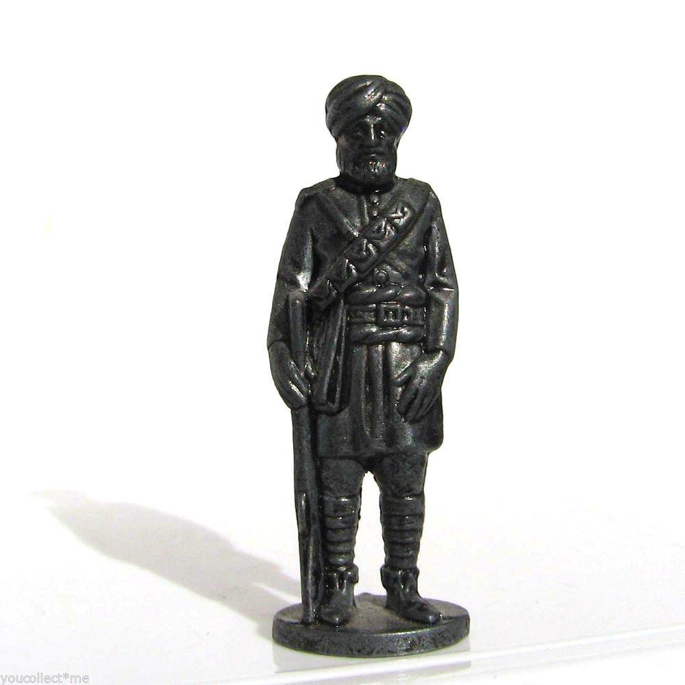 British India #7 Kinder Surprise Metal Soldier Figurine Vintage Toy 1.5 inch