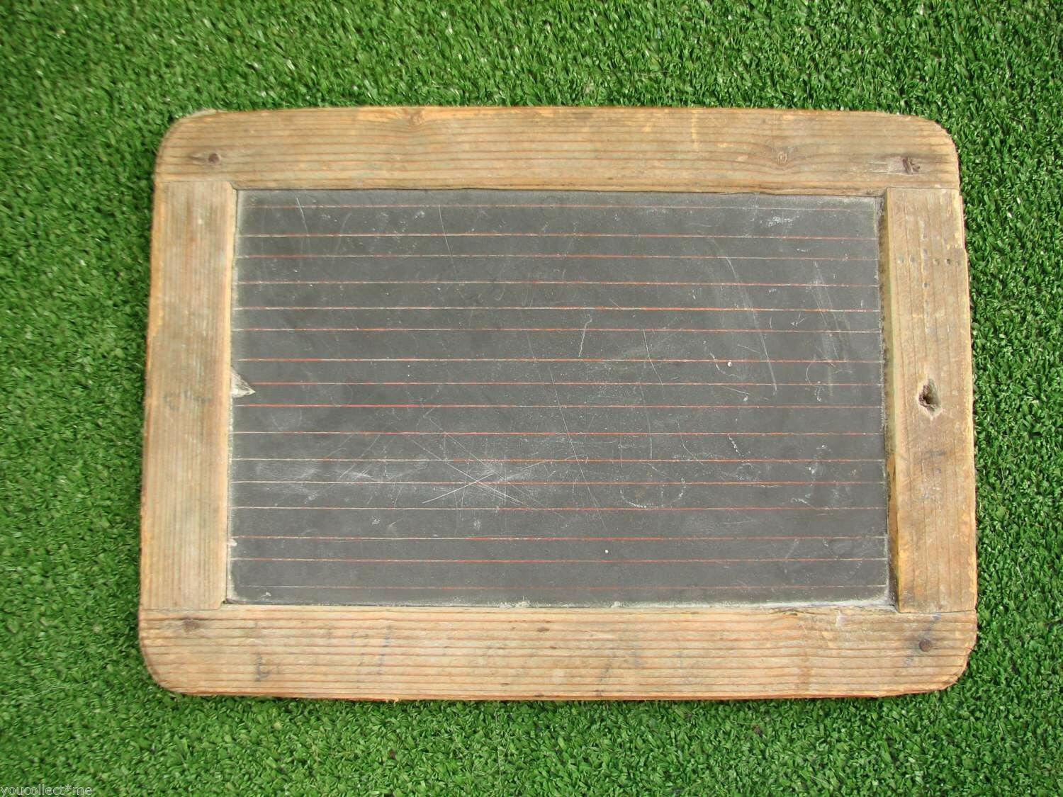 Vintage Chalkboard Tablet Slate Learn to Write Calculate School Student
